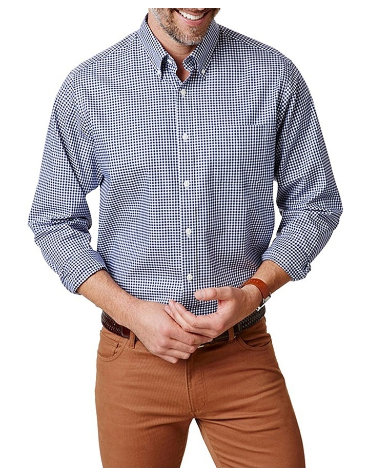 Easy Care Stretch Twill Check Shirt image 1