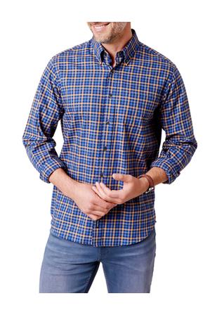 Gazman - Brushed Twill Plaid Check Shirt