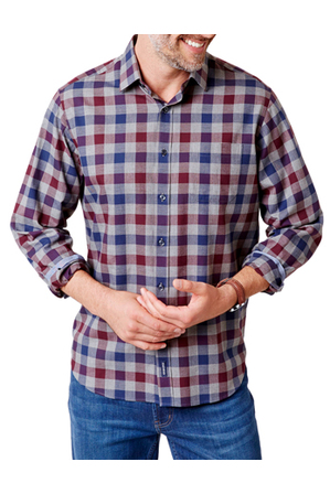 Gazman - Brushed Twill Box Check Shirt