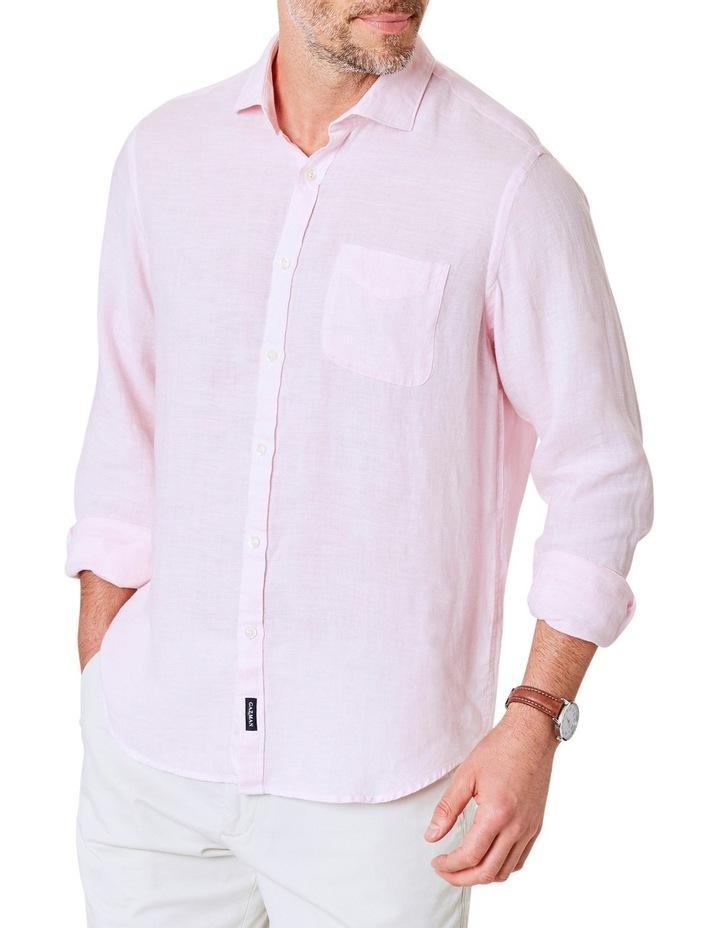 Pure Linen Plain Long Sleeve Shirt image 1