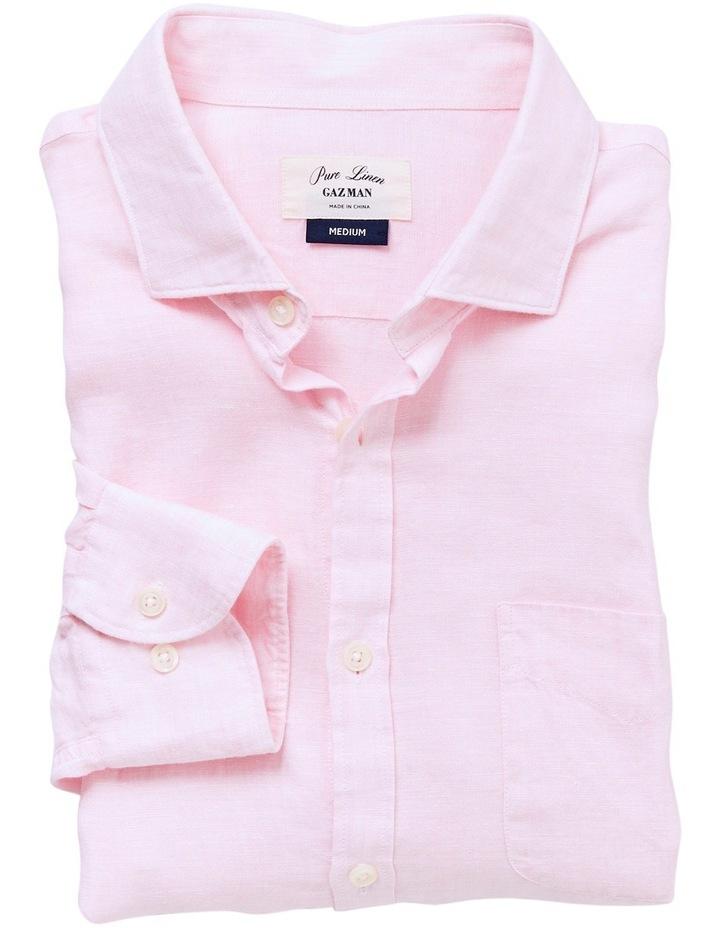 eb6a044dcc32 Pure Linen Plain Long Sleeve Shirt image 3