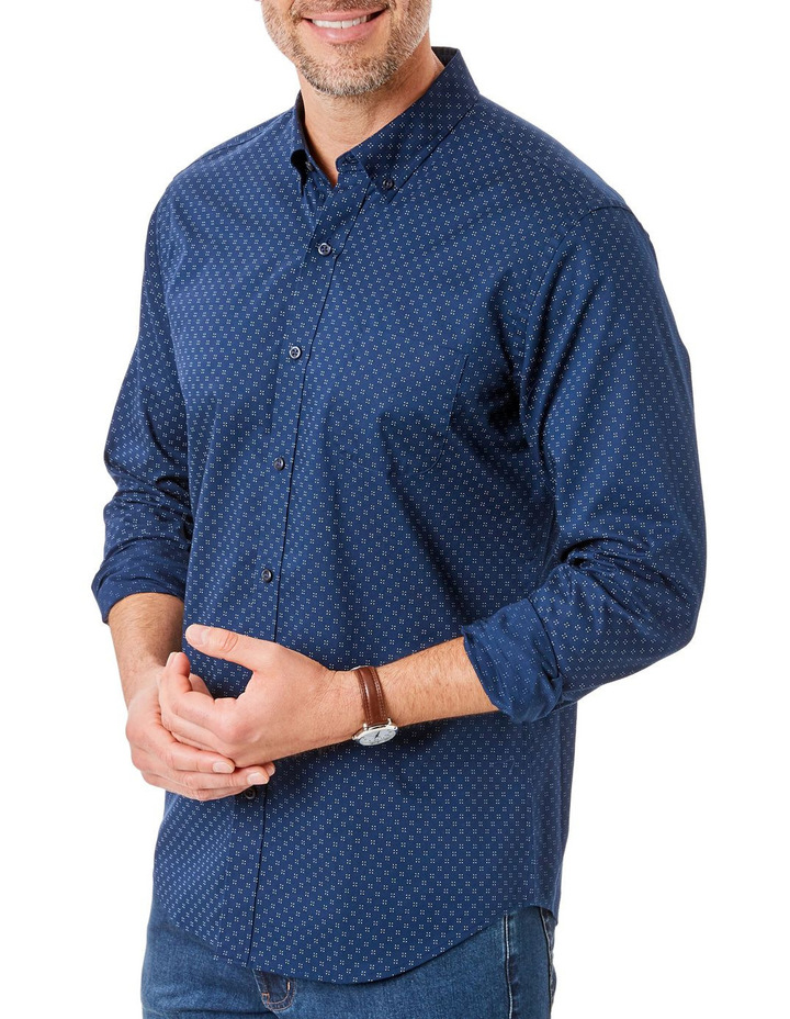 Tailored Smart Dot Print Long Sleeve Shirt image 1