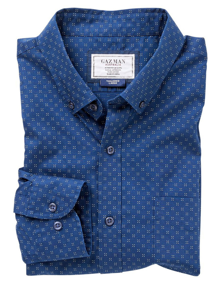 Tailored Smart Dot Print Long Sleeve Shirt image 4