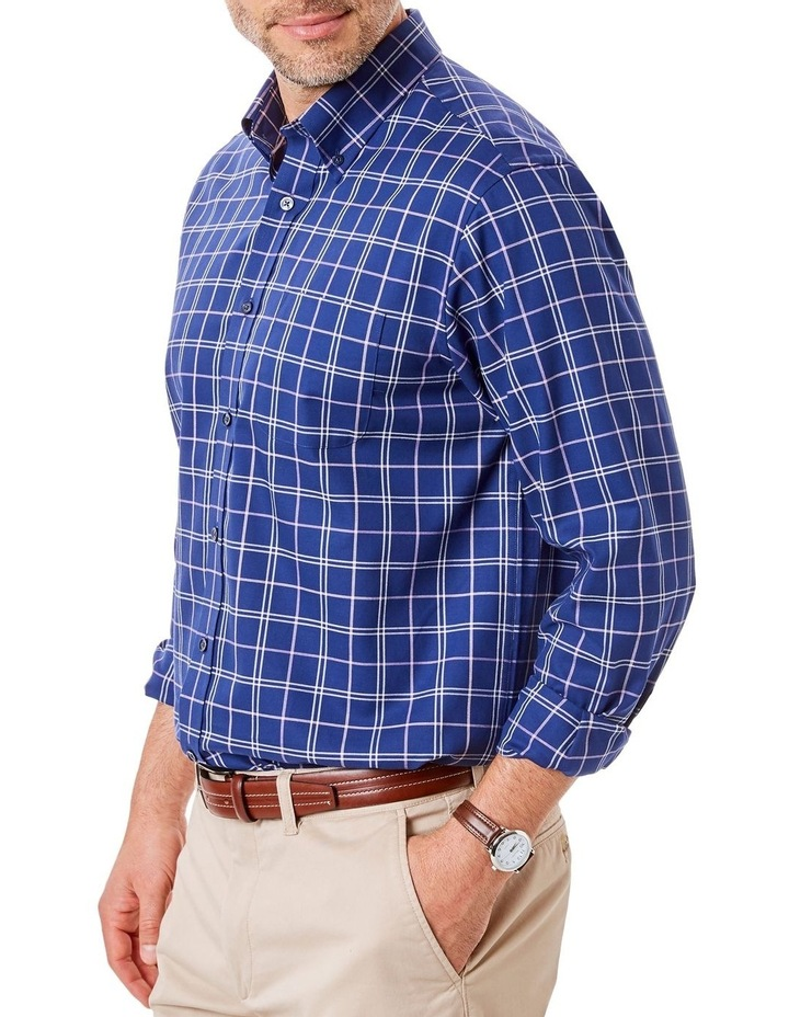 Easy Care Oxford Check Long Sleeve Shirt image 1