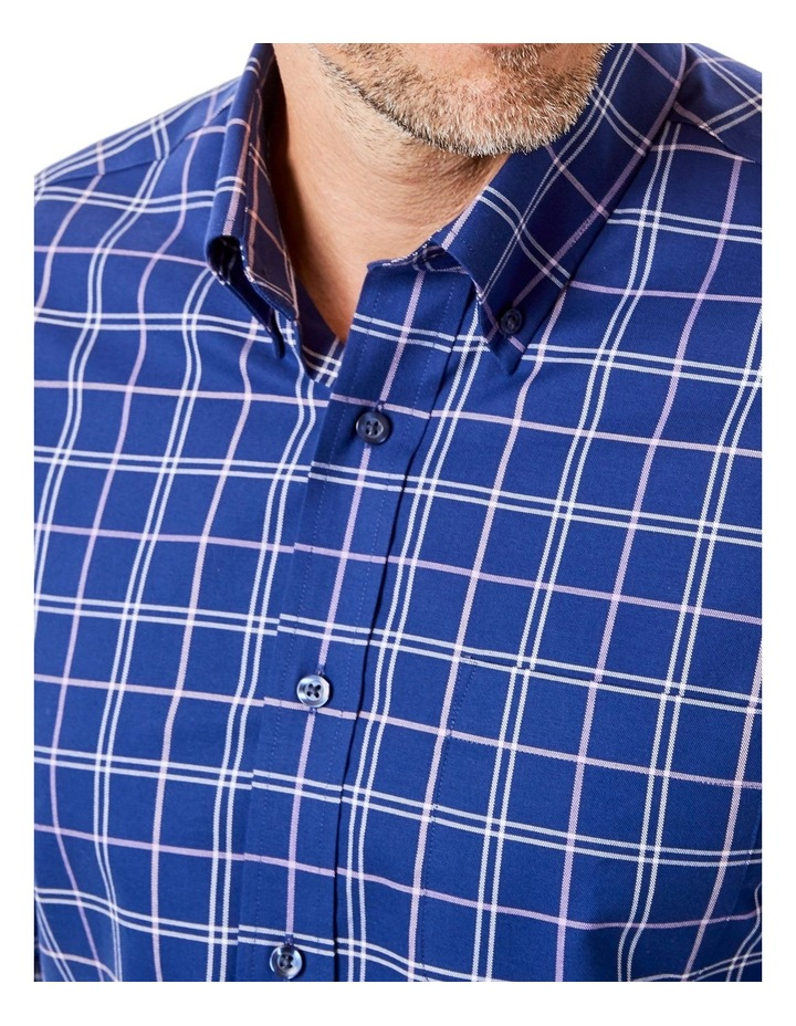 Easy Care Oxford Check Long Sleeve Shirt image 3