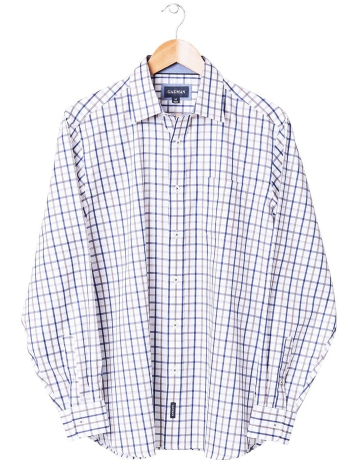 Easy Care Twill Check Long Sleeve Shirt image 4