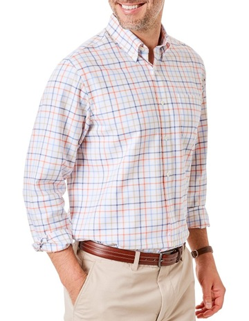604a3db434 GazmanEasy Care Oxford Multi Check Long Sleeve Shirt. Gazman Easy Care  Oxford Multi Check Long Sleeve Shirt