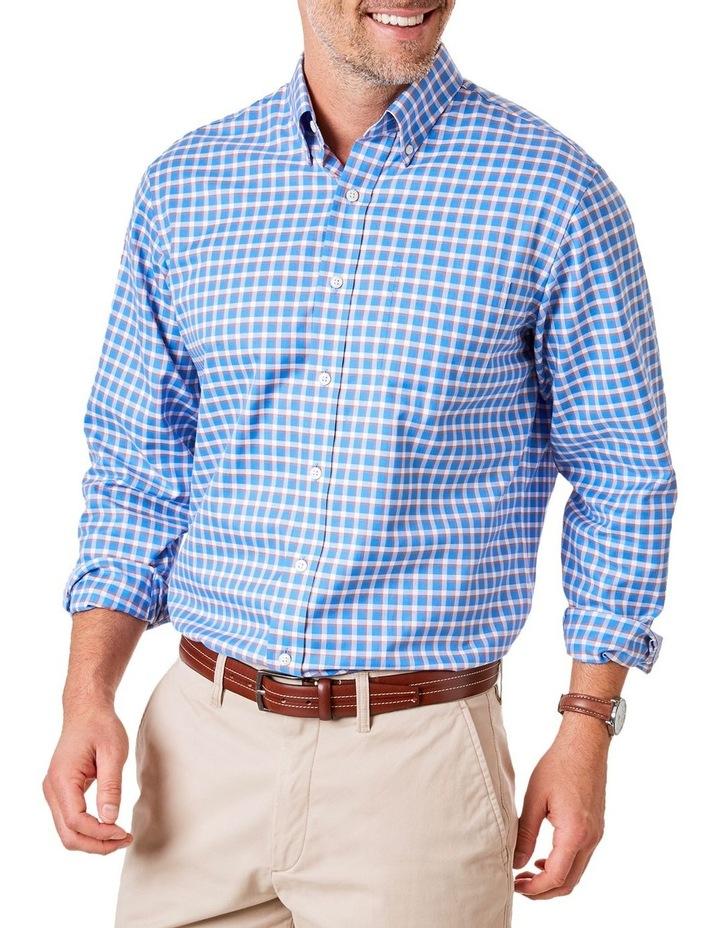 Easy Care Herringbone Check Long Sleeve Shirt image 1