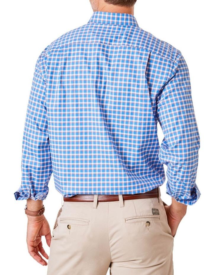 Easy Care Herringbone Check Long Sleeve Shirt image 2