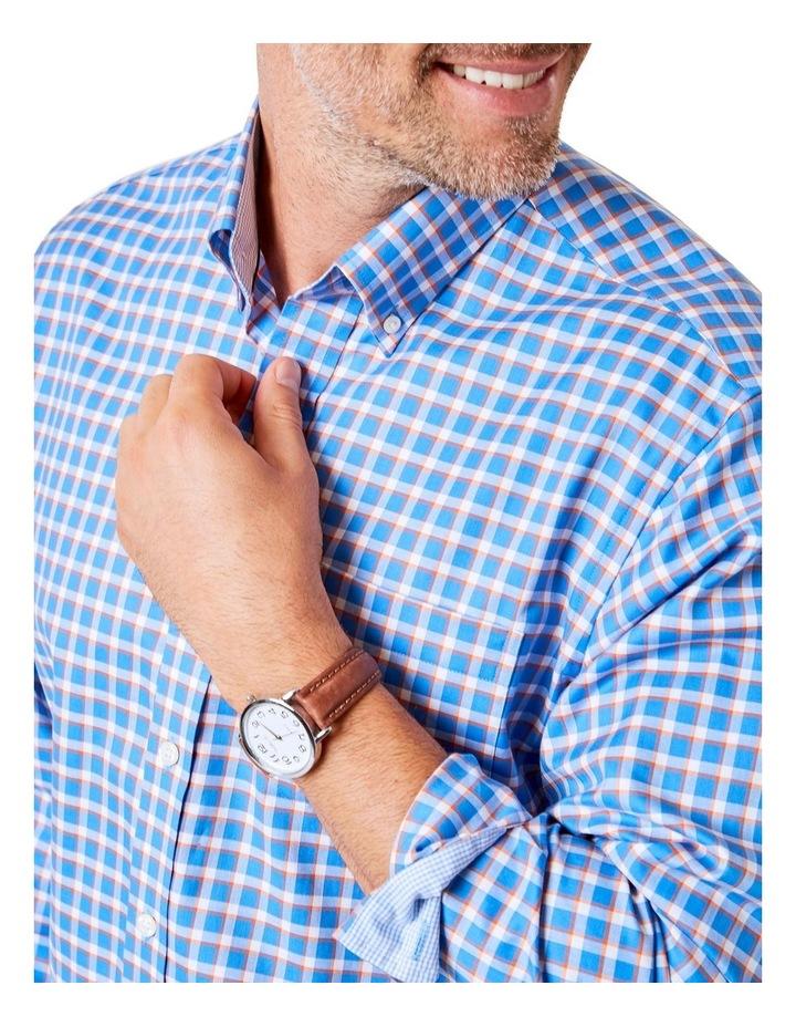Easy Care Herringbone Check Long Sleeve Shirt image 3