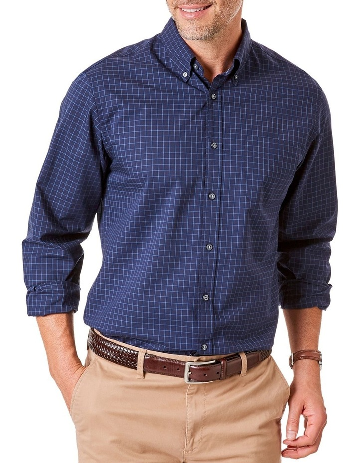 Casual Poplin Check Long Sleeve Shirt image 1