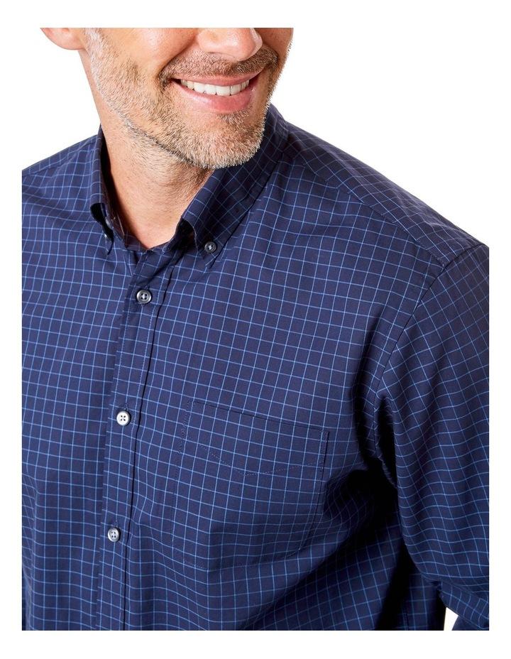Casual Poplin Check Long Sleeve Shirt image 3