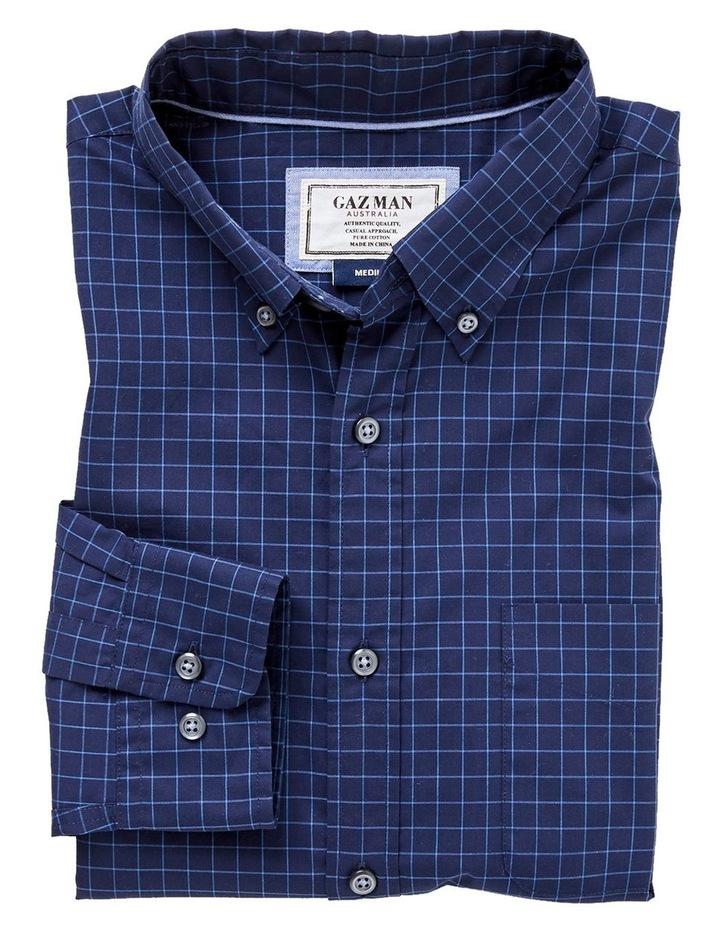Casual Poplin Check Long Sleeve Shirt image 4