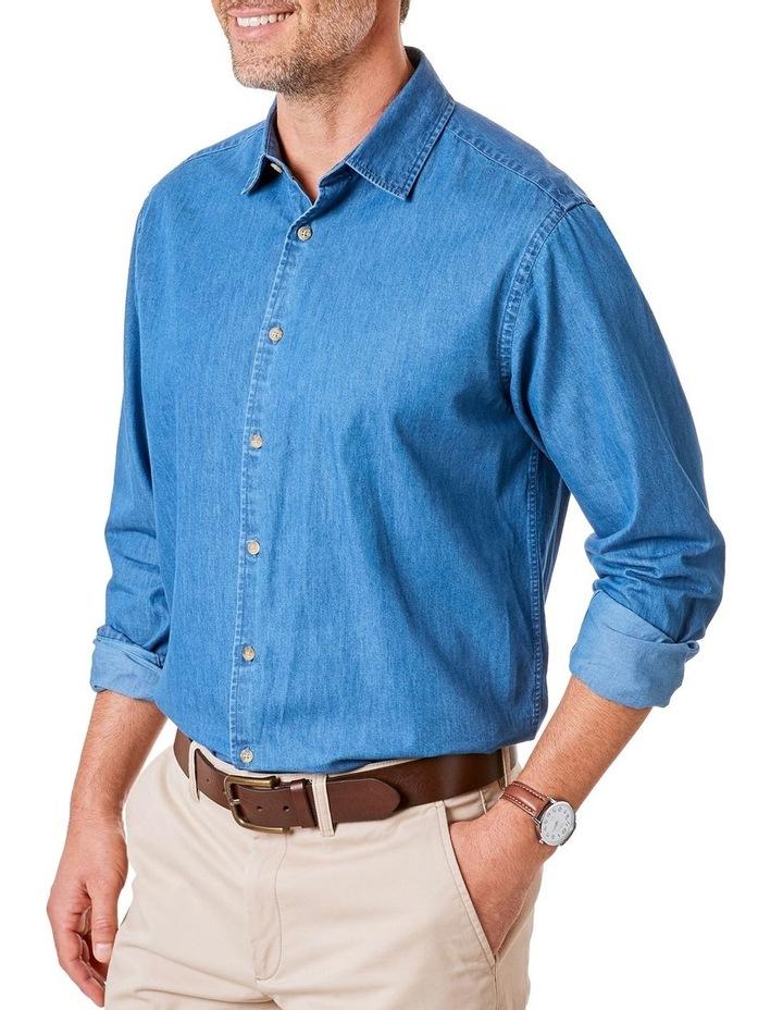 Plain Denim Long Sleeve Shirt image 1