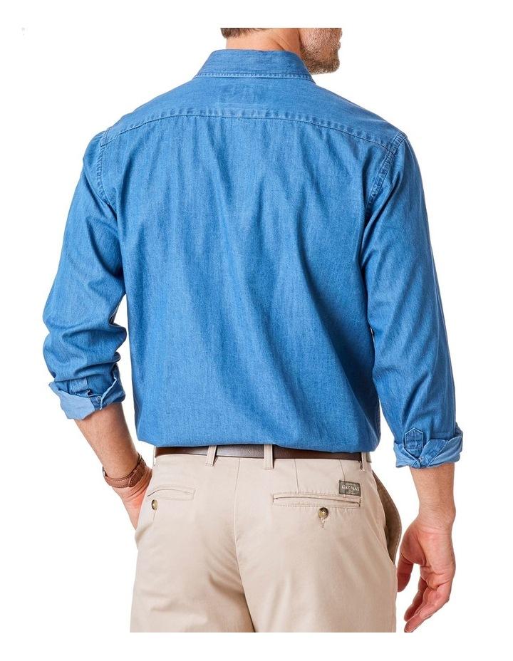 Plain Denim Long Sleeve Shirt image 2