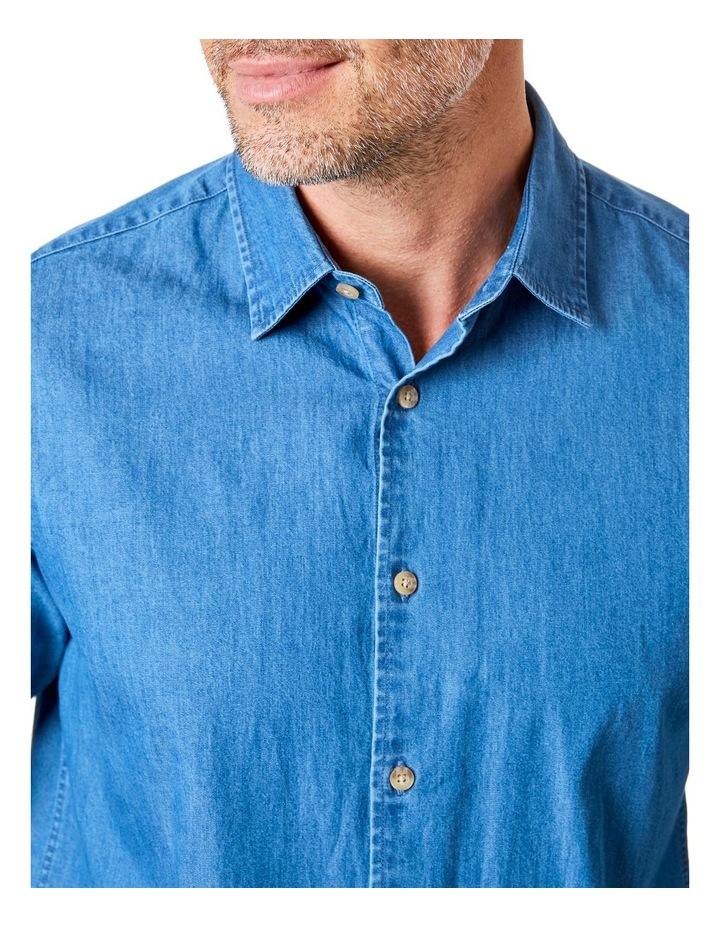 Plain Denim Long Sleeve Shirt image 3