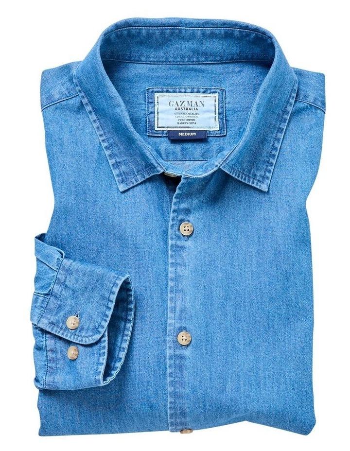 Plain Denim Long Sleeve Shirt image 4