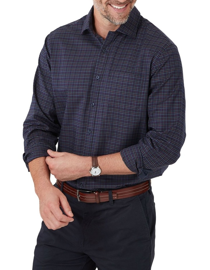 Easy Care Twill Multi Check Long Sleeve Shirt image 1