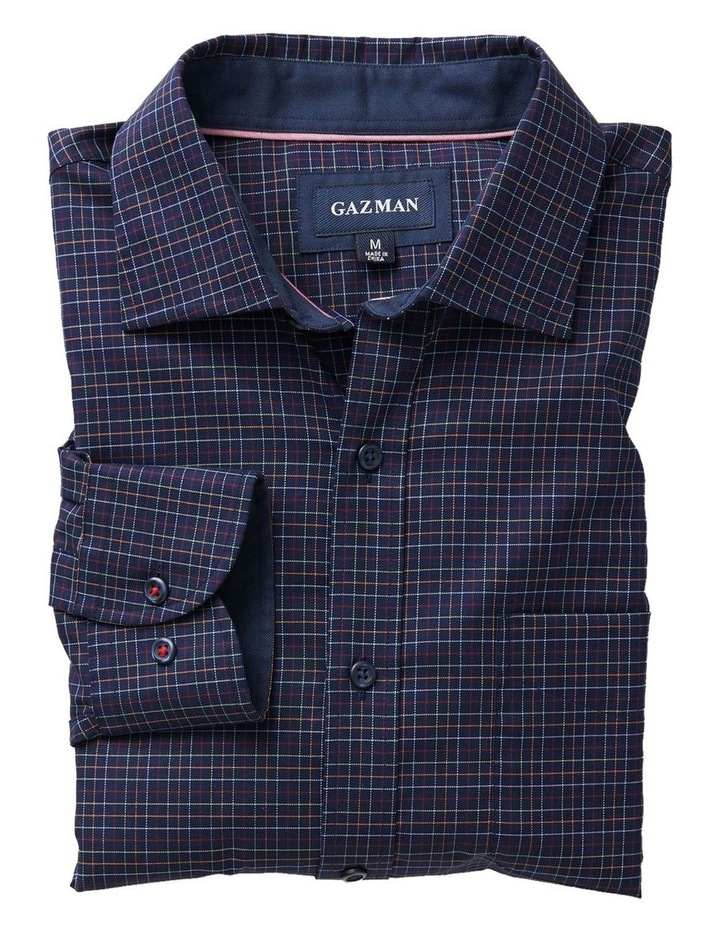 Easy Care Twill Multi Check Long Sleeve Shirt image 5