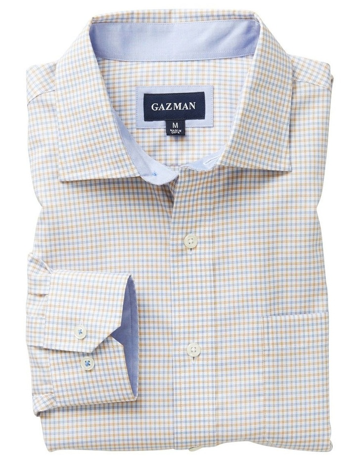 Easy Care Melange Multi Check Long Sleeve Shirt image 4
