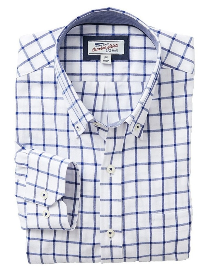 Brush Twill Check Long Sleeve Shirt image 3