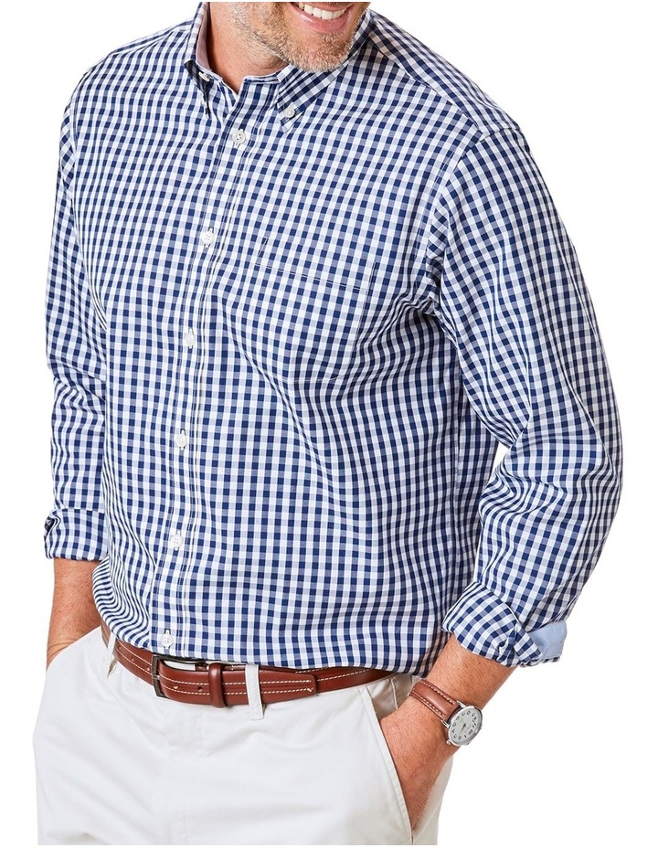 Easy Care Stretch Gingham Long Sleeve Shirt image 1