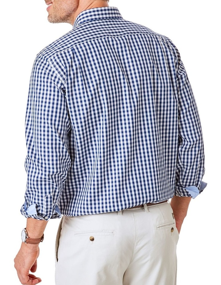 Easy Care Stretch Gingham Long Sleeve Shirt image 2