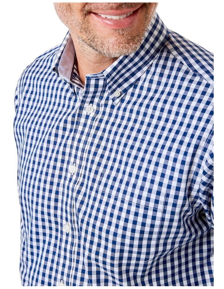 Easy Care Stretch Gingham Long Sleeve Shirt image 3