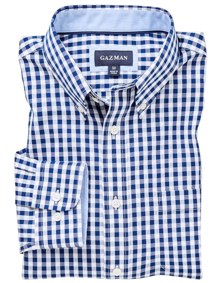 Easy Care Stretch Gingham Long Sleeve Shirt image 4