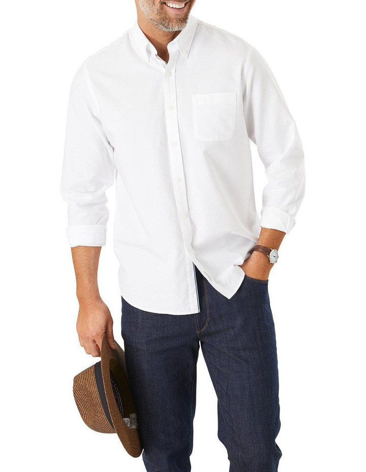 Casual Plain Oxford Long Sleeve Shirt image 1