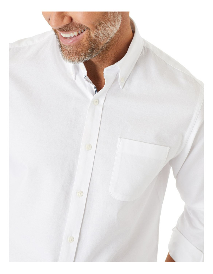 Casual Plain Oxford Long Sleeve Shirt image 3