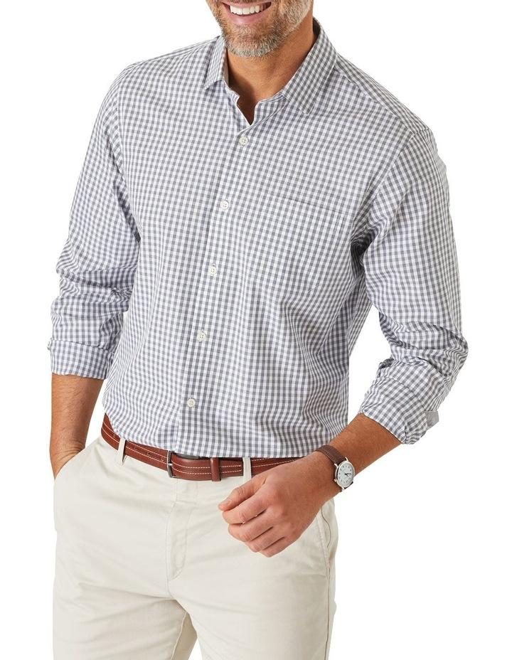 Easy Care Jaspe Gingham Long Sleeve Shirt image 1