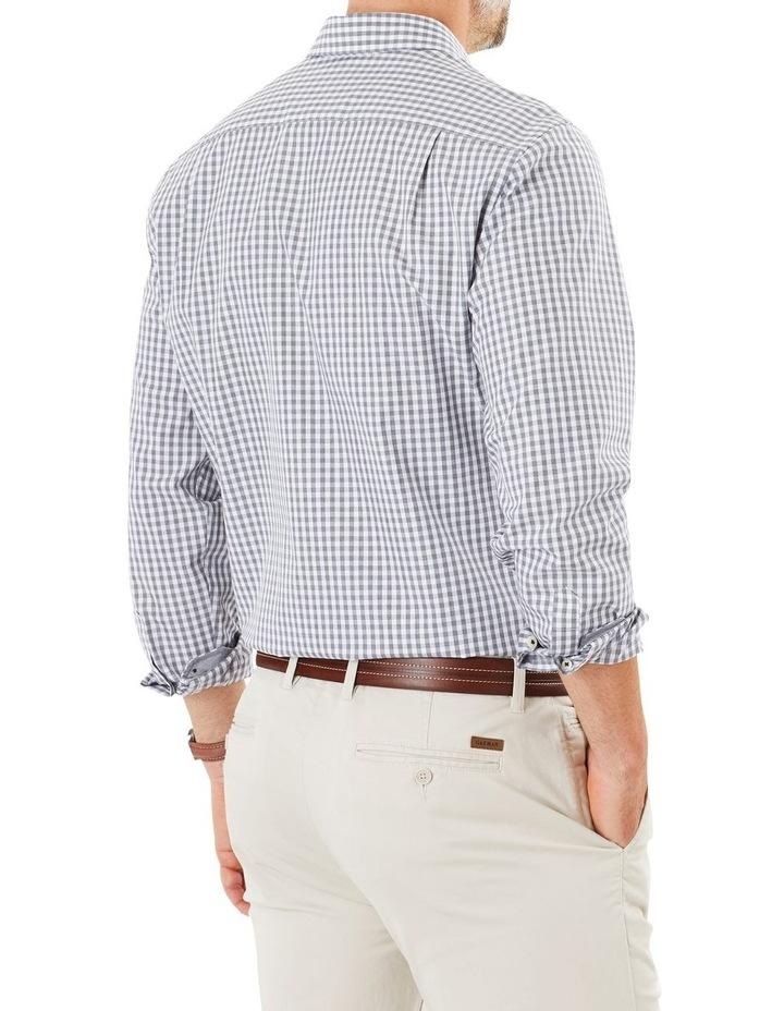 Easy Care Jaspe Gingham Long Sleeve Shirt image 2