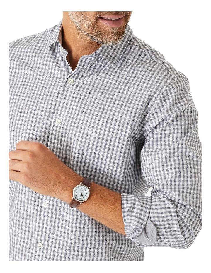 Easy Care Jaspe Gingham Long Sleeve Shirt image 3