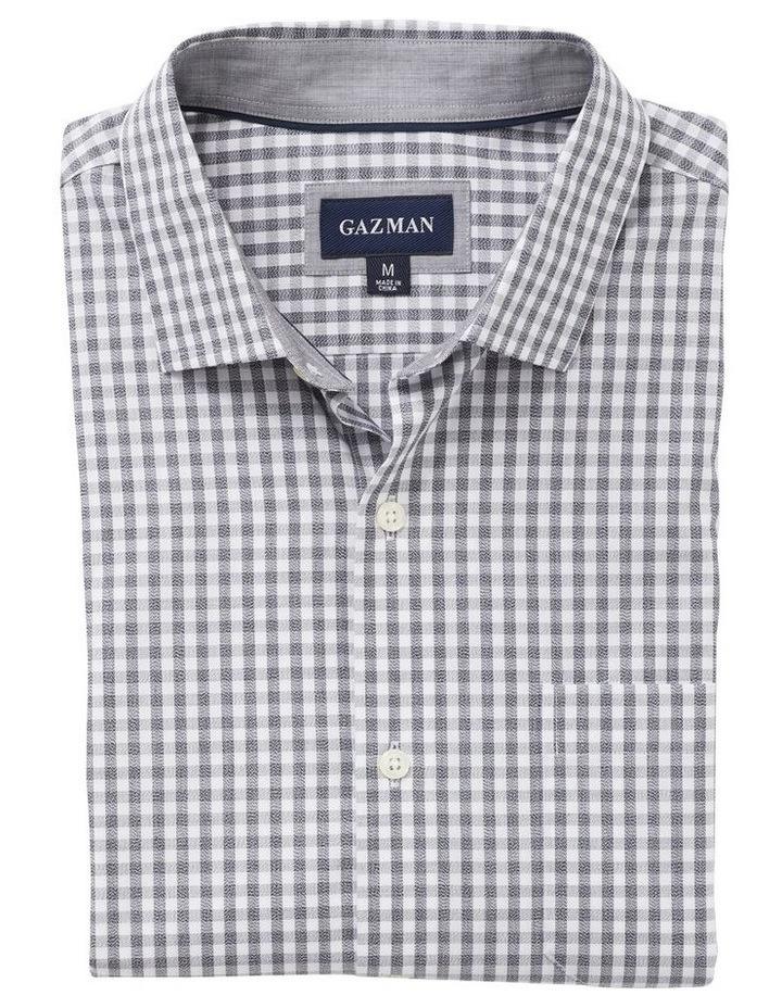 Easy Care Jaspe Gingham Long Sleeve Shirt image 4
