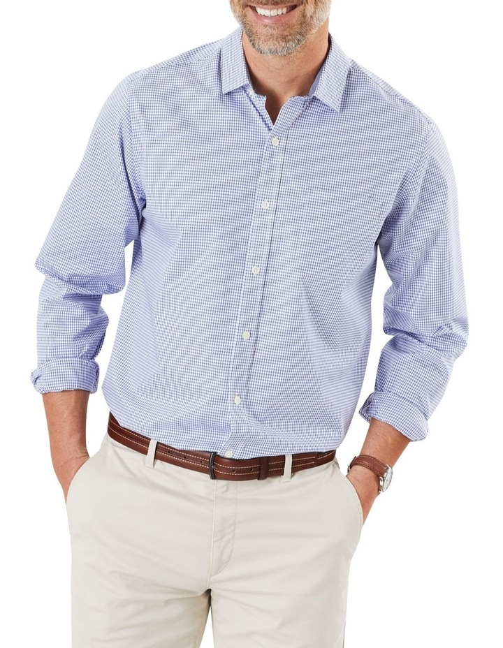 Easy Care Stretch Check Long Sleeve Shirt image 1