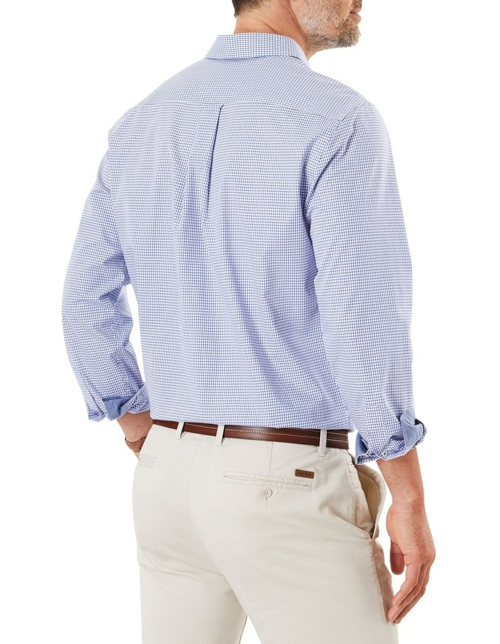 Easy Care Stretch Check Long Sleeve Shirt image 2