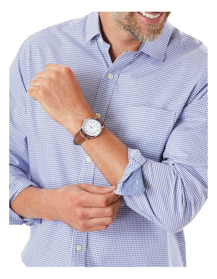 Easy Care Stretch Check Long Sleeve Shirt image 3