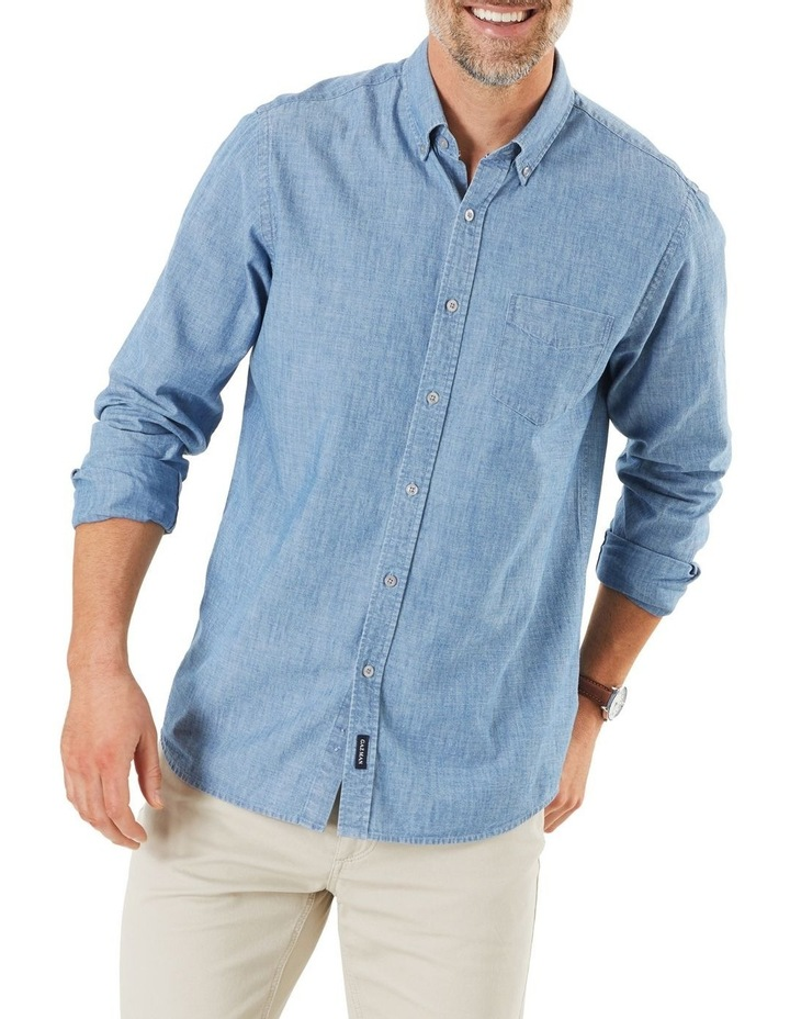 True Indigo Chambray Long Sleeve Shirt image 1