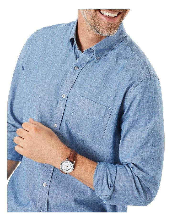 True Indigo Chambray Long Sleeve Shirt image 3