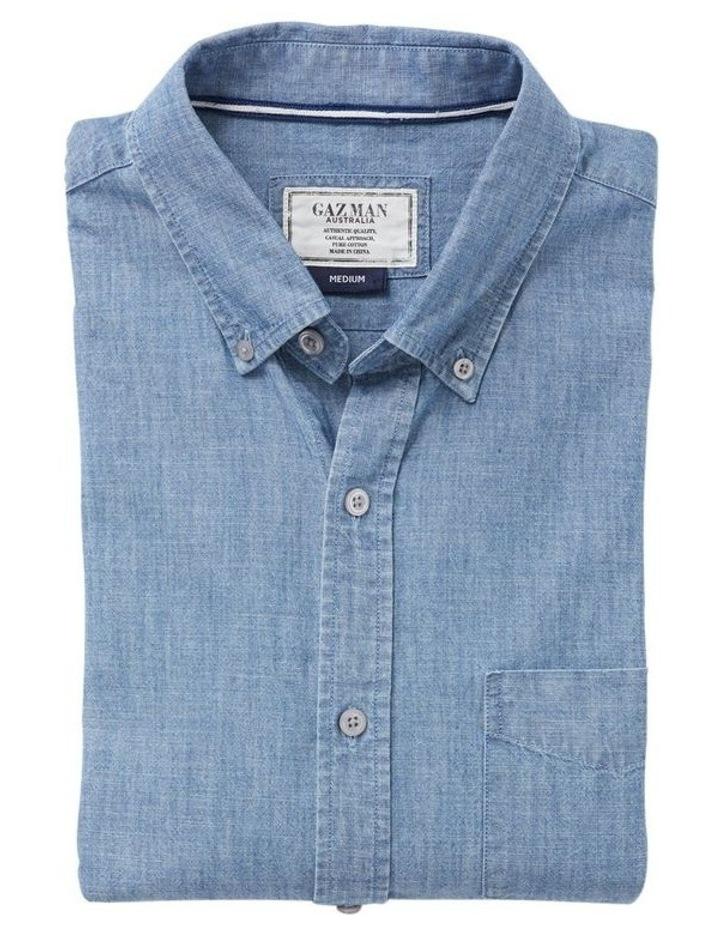True Indigo Chambray Long Sleeve Shirt image 4