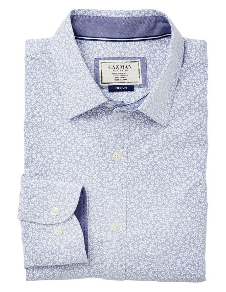 Casual Oxford Floral Print Long Sleeve Shirt image 3