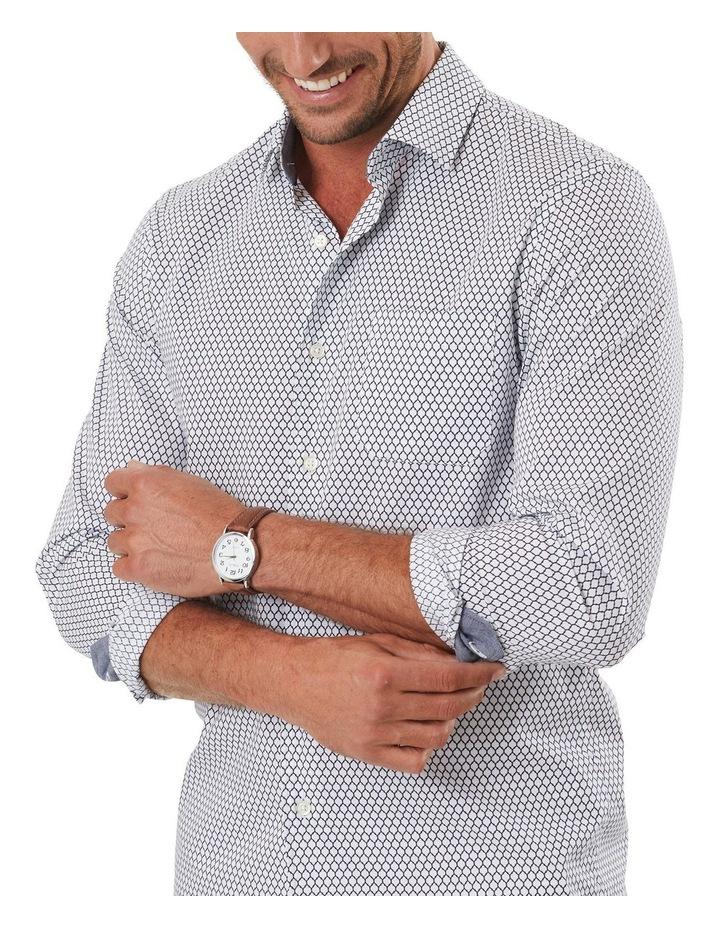 Tailored Smart Geo Tile Print Long Sleeve Shirt image 3