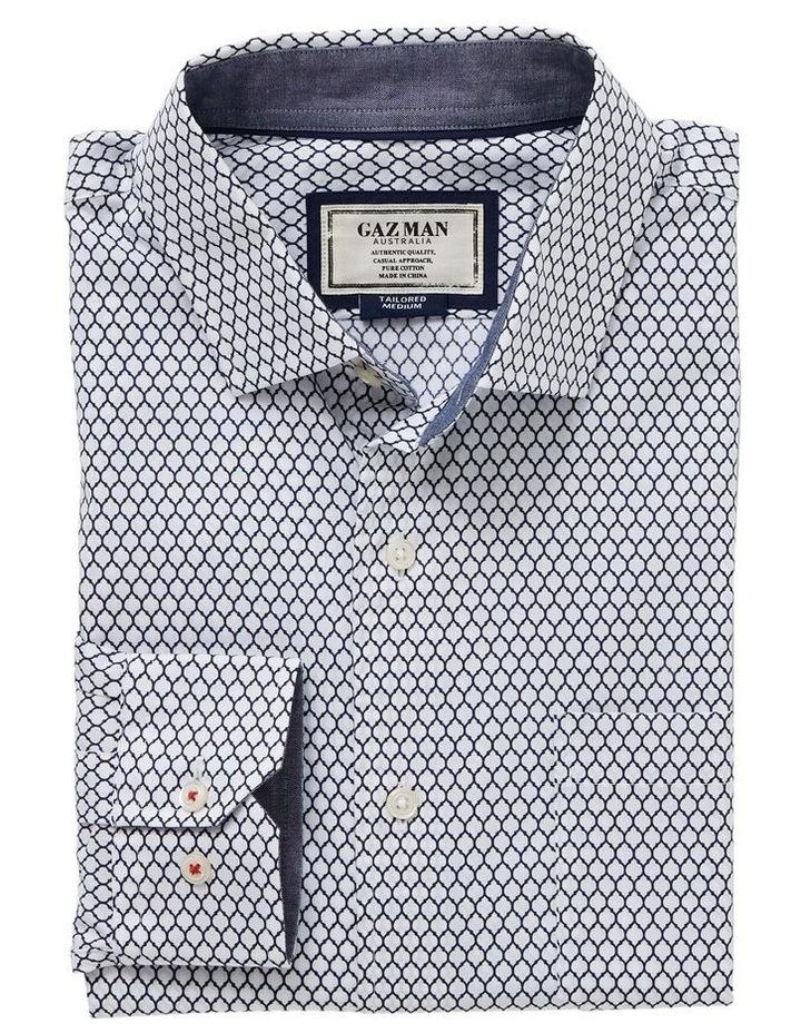 Tailored Smart Geo Tile Print Long Sleeve Shirt image 4