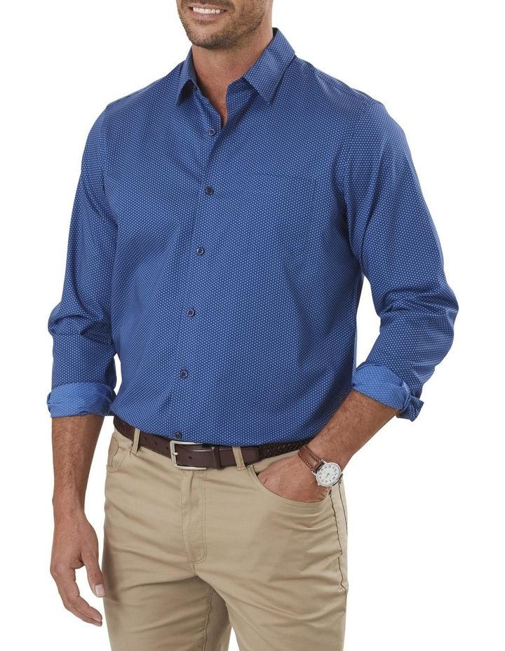 Smart Honeycomb Print Long Sleeve Shirt image 1