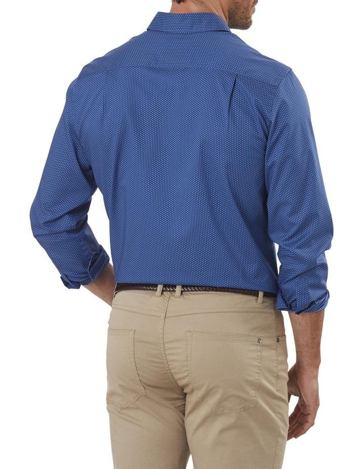 Smart Honeycomb Print Long Sleeve Shirt image 2