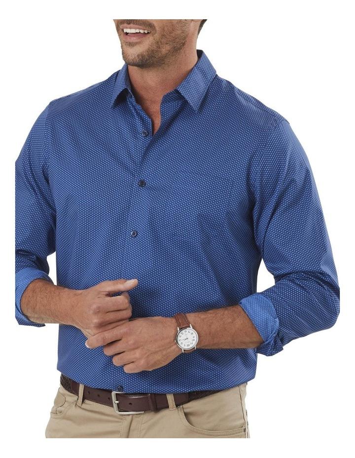 Smart Honeycomb Print Long Sleeve Shirt image 3