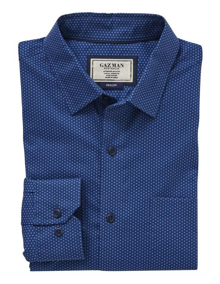 Smart Honeycomb Print Long Sleeve Shirt image 4