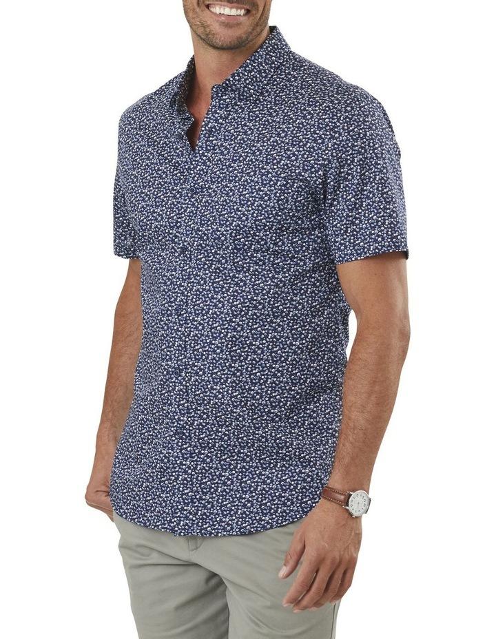Tailored Smart Multi Floral Print Short Sleeve Shirt image 1