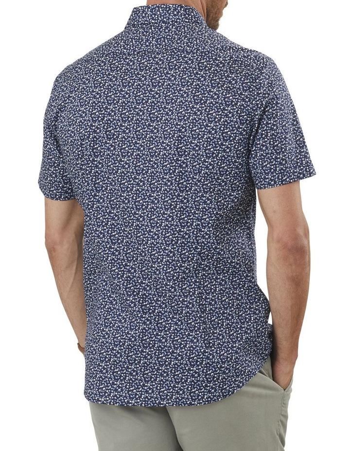 Tailored Smart Multi Floral Print Short Sleeve Shirt image 2